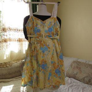 Free people dress, yellow dress, summer dress